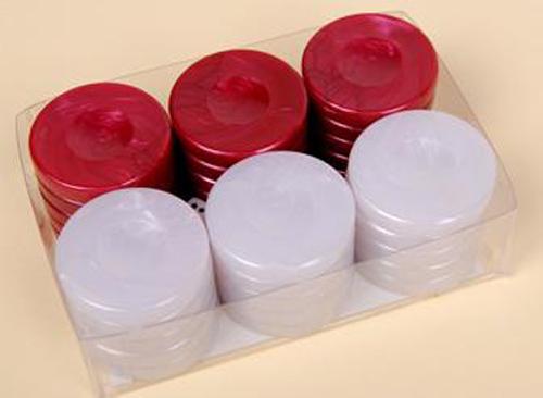 Πούλια από πέρλα μεγάλα red