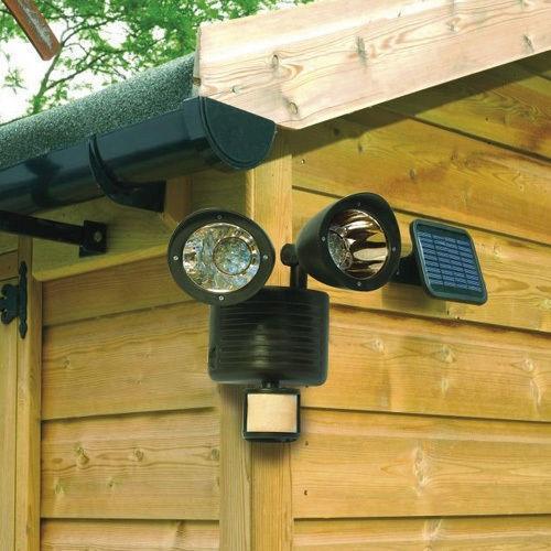 Διπλός Ηλιακός Προβολέας 150 Lumens με Ανιχνευτή Κίνησης και Πάνελ Φόρτισης OEM 150L
