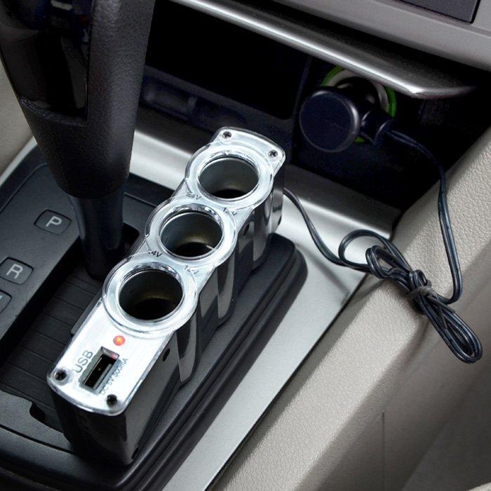 Φορτιστής Πολύπριζο Αυτοκινήτου 4 σε 1 με USB WF-0120 OEM