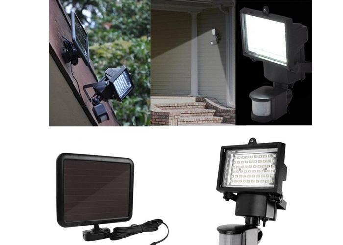 Ηλιακός Προβολέας με 60 LED και Ανιχνευτή Κίνησης - Solar Security Light