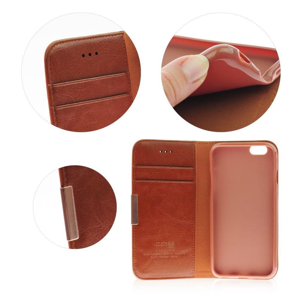 Θήκη για κινητό Samsung Galaxy S6 Edge+ από γνήσιο δέρμα Kalaideng Royale II Brown