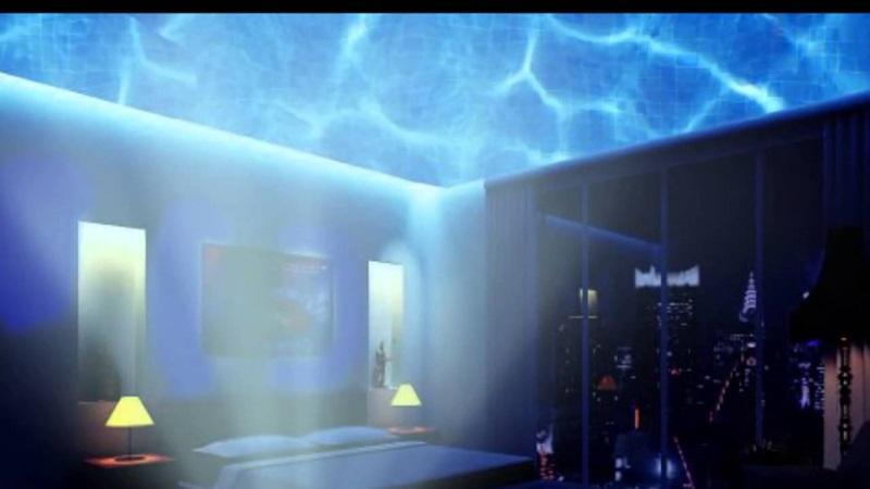 Προτζέκτορας LED Θαλάσσια Κύματα με Ηχείο Aurora Master Projector