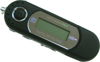 Portable Mp3 Player 4GB USB Stick Mαύρο OEM GA036