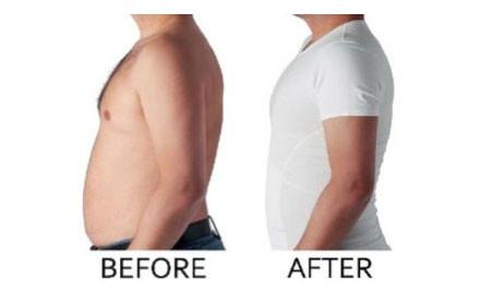 Αόρατη Ανδρική Φανέλα Lastex Σύσφιξης Κοιλιάς και Αδυνατίσματος Slim N Lift