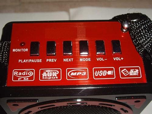 Φορητό επαναφορτιζόμενο Mp3 player/radio με ηχείο SOMITEC-XB-16U