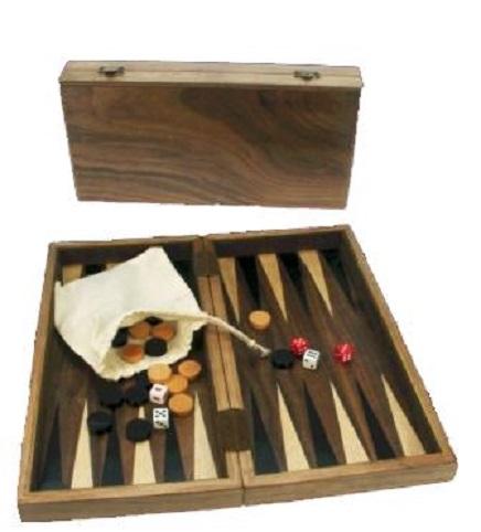Ξύλινο Τάβλι Καρυδιά Ταξιδιού 26 Χ 26 cm