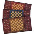 Μεταλικό σετ σκακιού σε ξύλινη κασετίνα 20χ20 cm