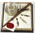 Πένα ξύλινη με εργαλεία γραφής & μελανοδοχείο στυλ αντίκα FRANCESCO RUBINATO art. 960