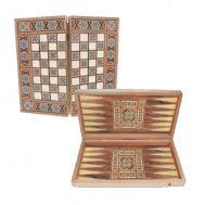 Ξύλινο Τάβλι & Σκάκι Συριακό μεγάλο 48 Χ 50 cm