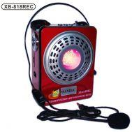 Φορητό Επαναφορτιζόμενο Ραδιόφωνο  - Ηχείο - Mp3 player WAXIBA XB-818 REC