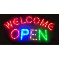 """Φωτιζόμενη πινακίδα με κίνηση 33x55cm """"WELCOME OPEN"""" OEM"""