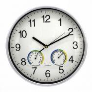 Ρολόι Τοίχου 30 cm με Υγρόμετρο και Θερμόμετρο OEM 0AA28