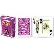 Τράπουλα πλαστική φούξια Modiano Texas Poker
