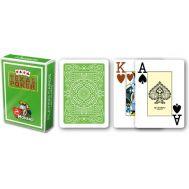 Τράπουλα πλαστική ανοιχτό πράσινο Modiano Texas Poker
