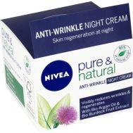 Αντιρυτιδική Κρέμα Νύχτός 50ml Nivea Pure & Natural Anti Wrinkle Night Cream