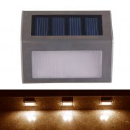 Ηλιακό φωτιστικό εξωτερικού χώρου μεταλλικό επιδαπέδιο - επιτοίχιο σετ 2 τμχ. OEM Solar Step Light