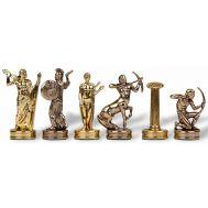 """Πιόνια για σκάκι  MANOPOULOS """"Ηρακλής"""" μεταλλικά χρυσό-ασημένιο 5.8cm"""