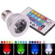 RGB Led Λάμπα E27 5Watt με τηλεχειριστήριο