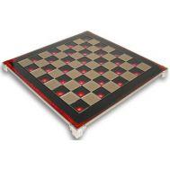 Σκακιέρα MANOPOULOS χάλκινη κόκκινο σμάλτο 28x28cm