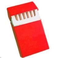 Ταμπακιέρα σιλικόνης πακέτου τσιγάρων κόκκινη OEM Silicone Cigarette Case