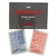 Τράπουλα κόκκινη & μπλε 100% πλαστική σετ 2 τεμχ. TORCELLO Dal Negro
