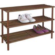 Ξύλινη Ραφιέρα Αποθήκευσης Παπουτσιών με 3 ράφια 70x26x48cm Cb 90003