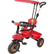 Παιδικό τρίκυκλο ποδήλατο Κόκκινο με μπάρα καθοδήγησης και τέντα 905S