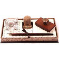 Σετ πένας γραφής με ξύλινη πένα και στυπόχαρτο Francesco Rubinato 2057