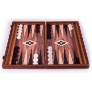 Χειροποίητο τάβλι 48 x 60cm από ρέπλικα ξύλου καρυδιάς με πλαϊνές θήκες MANOPOULOS BXL1KK