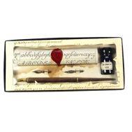 Πένα γραφής ξύλινη με μελανοδοχείο Francesco Rubinato 7540
