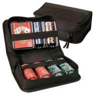 Ταξιδιωτικό σετ ποκερ με τράπουλα και 150 μάρκες Travel poket kit