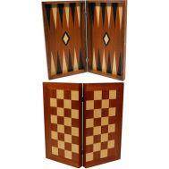 Τάβλι - σκάκι καπλαμάς μαόνι καφέ 20χ20cm