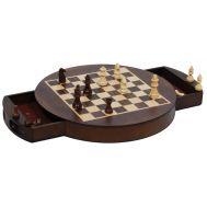 Σκάκι ξύλινο στρογγυλό μαγνητικό 20Χ20cm με πιόνια