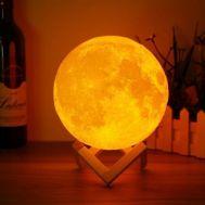 Ασύρματη Λάμπα 3D σε Σχήμα Σελήνης