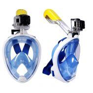 Ολοπρόσωπη Μάσκα Θαλάσσης με Αναπνευστήρα και Βάση για Action Camera Sub Full Face Snorkel Mask 850