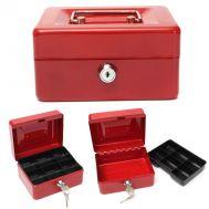 Φορητό κουτί ταμείου μεταλλικό με κλειδαριά 15x12x8cm OEM 104138