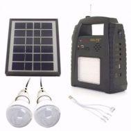 Σετ ηλιακό φωτιστικό φορτιστής με ραδιόφωνο FM MP3 USB GD-8052