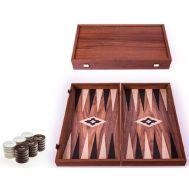 Χειροποίητο τάβλι 30 x 30cm από ρέπλικα ξύλου καρυδιάς MANOPOULOS TXL3KK