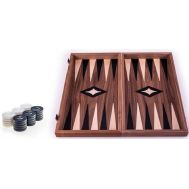 Χειροποίητο τάβλι 30 x 30cm με φυσικό ξύλο καρυδιάς MANOPOULOS TKK3