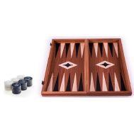 Χειροποίητο τάβλι 30 x 30cm με φυσικό ξύλο μαόνι μαύρο MANOPOULOS TMM3BLA
