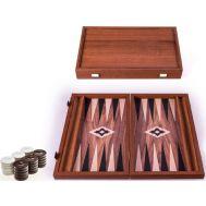 Χειροποίητο τάβλι 30 x 36cm από ρέπλικα ξύλου καρυδιάς με πλαϊνές θήκες MANOPOULOS BXL3KK