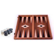 Χειροποίητο τάβλι 30x30cm δρυς & μαόνι 3 σε 1 μαύρο MANOPOULOS TS3MBLA