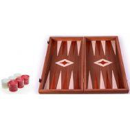 Χειροποίητο τάβλι 38 x 40cm με φυσικό ξύλο μαόνι κόκκινο MANOPOULOS TMM2RED