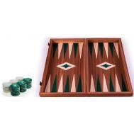 Χειροποίητο τάβλι 38 x 40cm με φυσικό ξύλο μαόνι πράσινο MANOPOULOS TMM2GRE