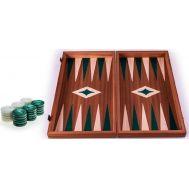 Χειροποίητο τάβλι 38x40cm δρυς & μαόνι 3 σε 1 πράσινο MANOPOULOS TS2MGRE