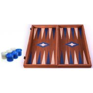 Χειροποίητο τάβλι 48x50cm δρυς & μαόνι 3 σε 1 μπλε MANOPOULOS TS1MBLU