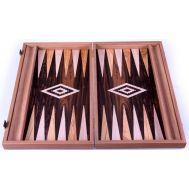 Χειροποίητο τάβλι 48x60cm  δρυς ελιά & ziricote με θήκες για πούλια MANOPOULOS BΖΖ1