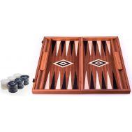 Χειροποίητο τάβλι 48x60cm μαόνι βελανιδιά & μαύρο σφένδαμο με θήκες για πούλια 3 σε 1  MANOPOULOS BSM1