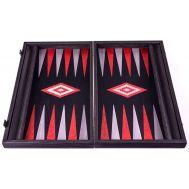 Χειροποίητο τάβλι 48x60cm μαύρη δρυς & γκρι σφένδαμο με θήκες για πούλια MANOPOULOS BGB1