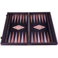 Χειροποίητο τάβλι 48x60cm μαύρη δρυς βελανιδιά & γκρι σφένδαμο με θήκες για πούλια MANOPOULOS BGK1